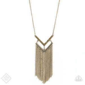 Alpha Glam - Brass necklace